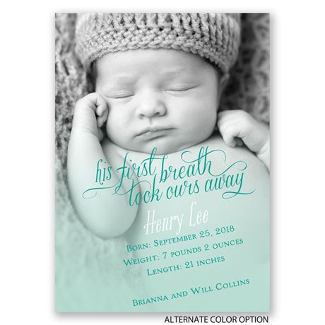 His First Breath - Mini Birth Announcement