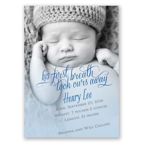 His First Breath Mini Birth Announcement
