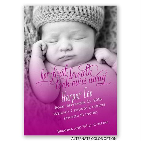 Her First Breath - Mini Birth Announcement