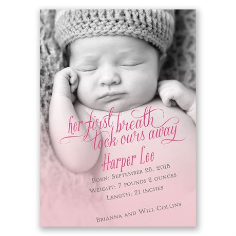 Her First Breath Mini Birth Announcement