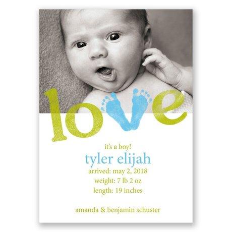 Little Feet - Mini Birth Announcement