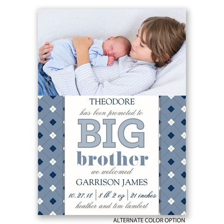 Big Bro Promotion - Mini Birth Announcement