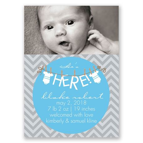 "He""s Here! Mini Birth Announcement"