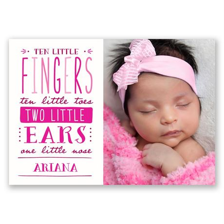 So Little - Birth Announcement