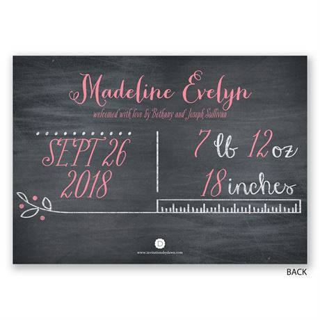 Pretty Doodles - Birth Announcement
