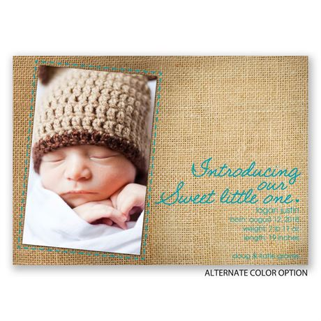 Sweet Little One - Birth Announcement