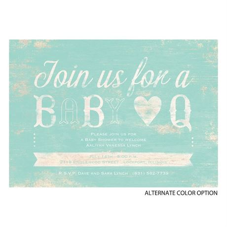 BaBy Q - Baby Shower Invitation