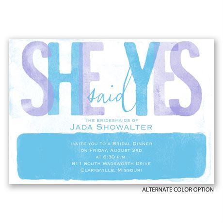 Paint the Town - Bridal Shower Invitation