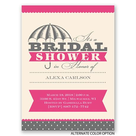 Sweet and Elegant - Petite Bridal Shower Invitation