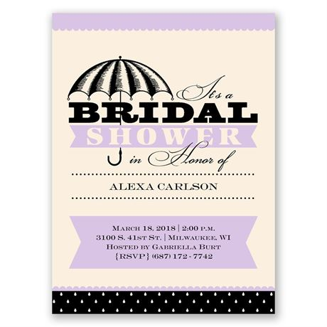 Sweet and Elegant Petite Bridal Shower Invitation