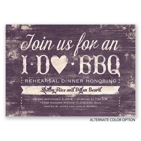 I Do BBQ - Rehearsal Dinner Invitation