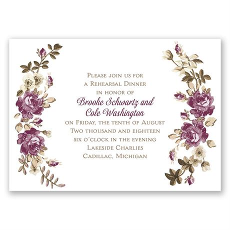 Floral Beauty - Mini Rehearsal Dinner Invitation