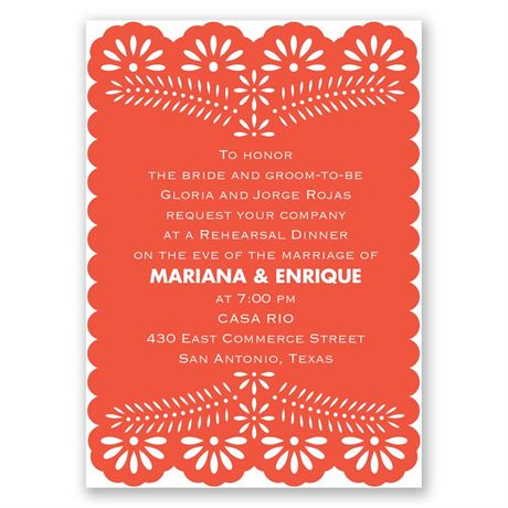 Fun and Festive - Mini Rehearsal Dinner Invitation