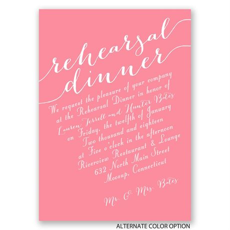 New Perspective - Mini Rehearsal Dinner Invitation