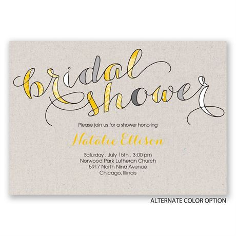 Eclectic Elegance - Bridal Shower Invitation