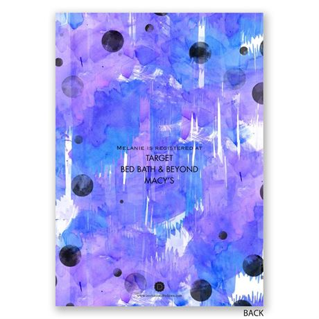 Make a Statement - Orchid - Bridal Shower Invitation