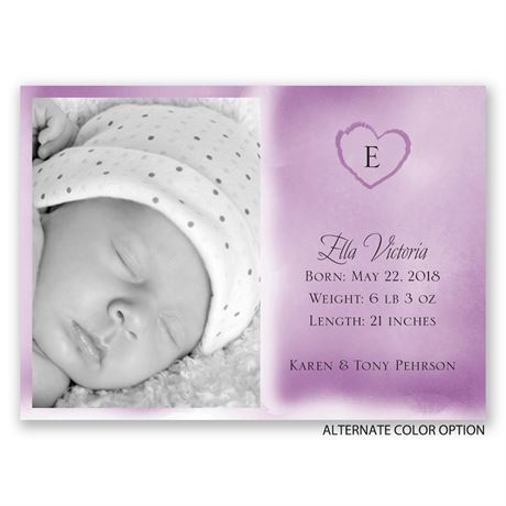 Little Heart - Mini Birth Announcement