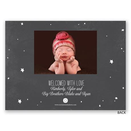 Gift from Heaven - Petite Birth Announcement