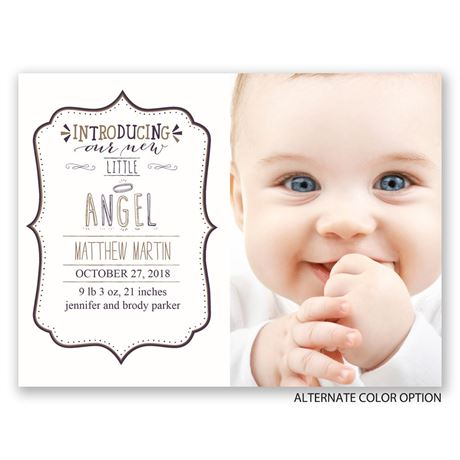 Little Angel - Petite Birth Announcement