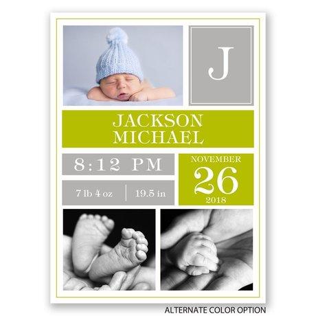 Bundled Blocks - Petite Birth Announcement