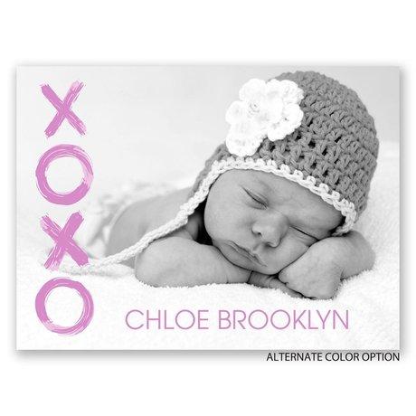 XOXO - Petite Birth Announcement