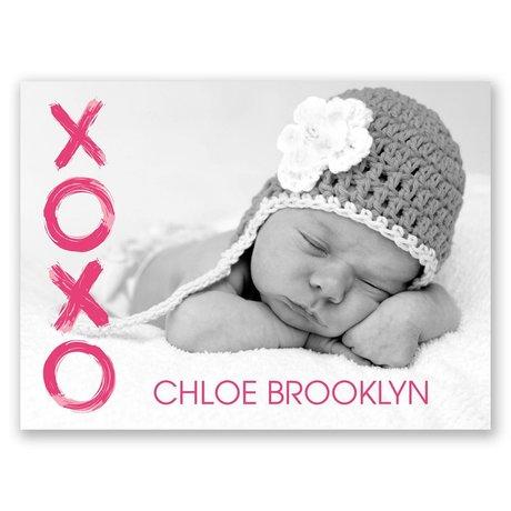 XOXO Petite Birth Announcement