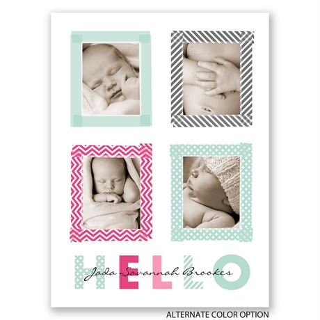 Hello Patterns - Petite Birth Announcement