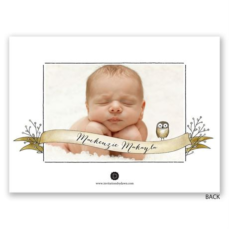 Forest Friends - Petite Birth Announcement