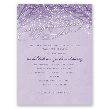 Evening Stroll - Petite Engagement Party Invitation