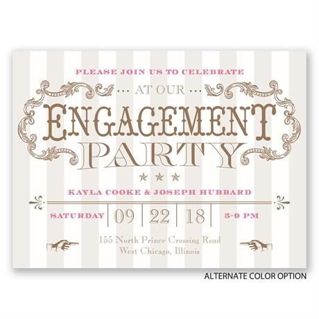 Circus Chic - Petite Engagement Party Invitation