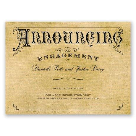 Beautifully Antique Petite Engagement Announcement