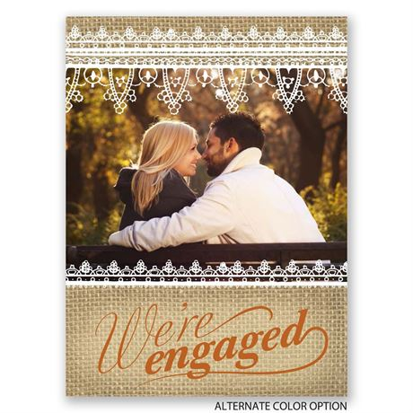 Charming Burlap - Petite Engagement Party Invitation