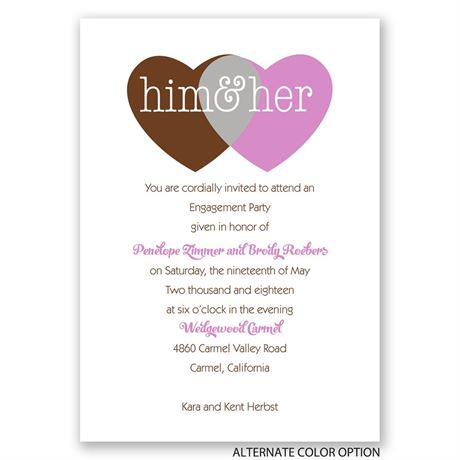 Shared Love - Mr. and Mrs. - Engagement Party Invitation