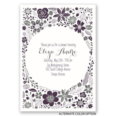 Pretty Little Flowers - Bridal Shower Invitation