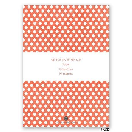 Posies and Polka Dots - Bridal Shower Invitation