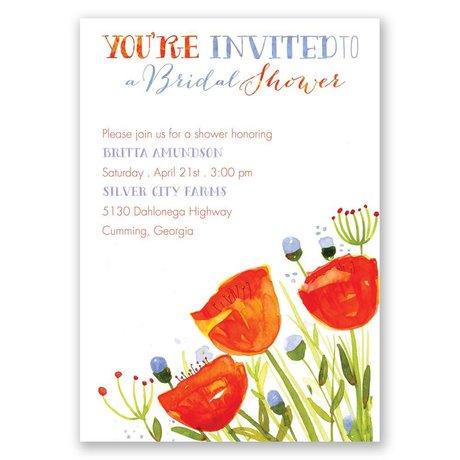 Posies and Polka Dots Bridal Shower Invitation
