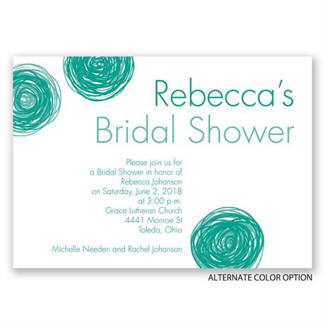 Mod Floral - Bridal Shower Invitation