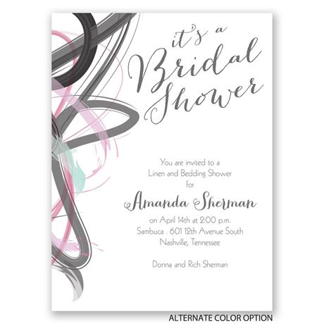 Abstract Beauty - Petite Bridal Shower Invitation