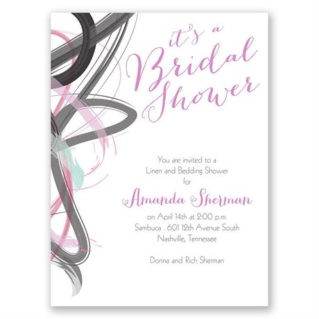 Abstract Beauty Petite Bridal Shower Invitation