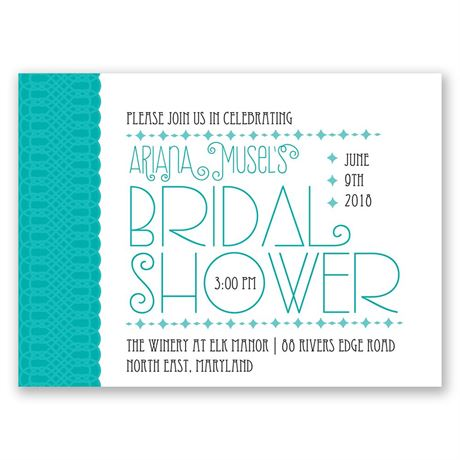 Pretty Typography Petite Bridal Shower Invitation