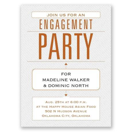 Trendy Statement Petite Engagement Party Invitation