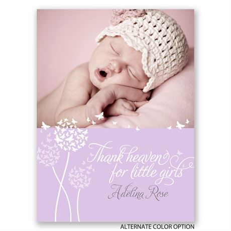 Thank Heaven - Petite Birth Announcement
