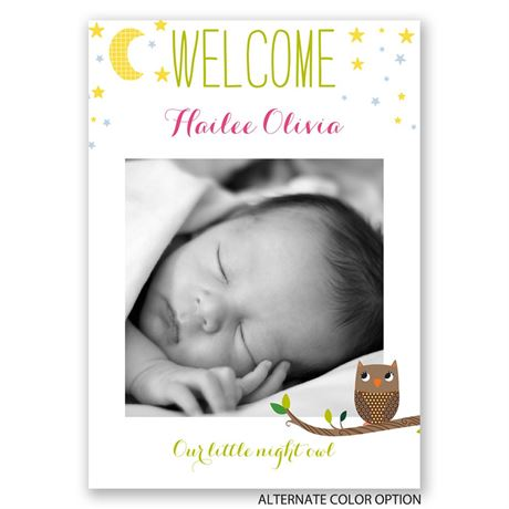 Little Night Owl - Birth Announcement