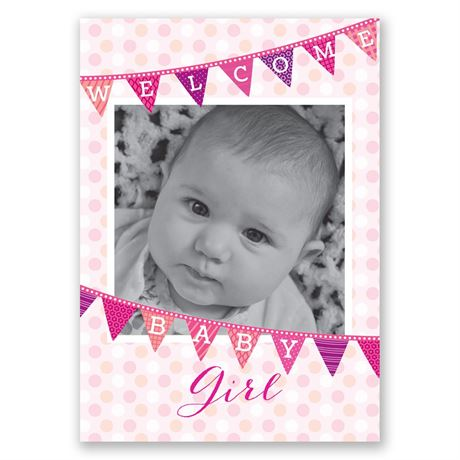 Welcome Baby Girl Birth Announcement Invitations By Dawn