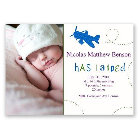 Flying High - Birth Announcement