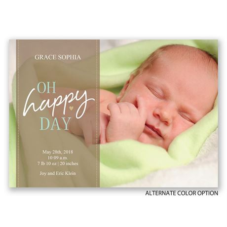 Oh So Happy - Birth Announcement