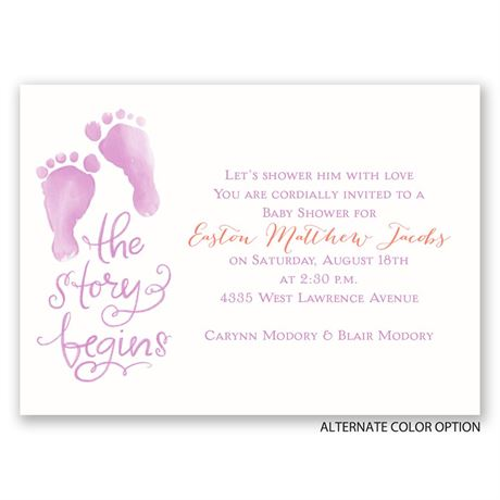 The Story Begins - Mini Baby Shower Invitation