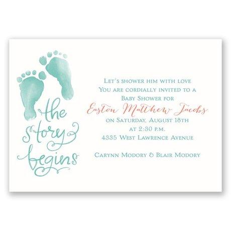 The Story Begins Mini Baby Shower Invitation
