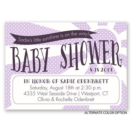 Little Sunshine - Mini Baby Shower Invitation