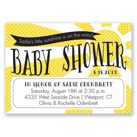 Little Sunshine Mini Baby Shower Invitation